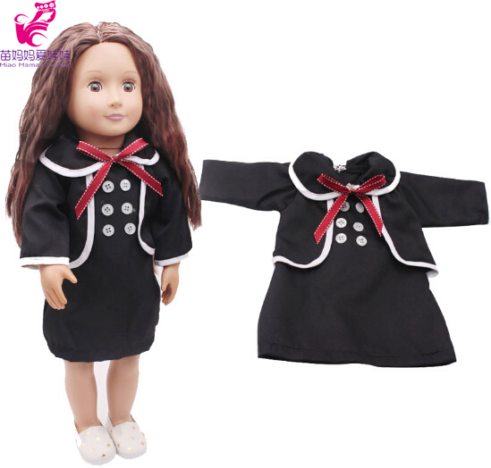 Doll dress black formal dress for 45 cm American girl doll 18inch doll suit for born baby doll Accessories
