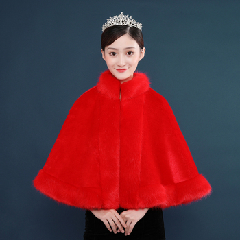 Fur Faux Winter Bolero Women Bridal Shawl Wedding Cape  In Stock Bridal Cloaks Wedding Coat Cheap Jacket For Evening Party