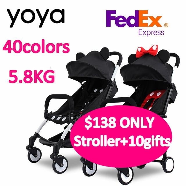 100 original yoya baby stroller 10gift lightweight compact trolley 3 in 1 stroller pram poussette european buggy board trolley in three wheels