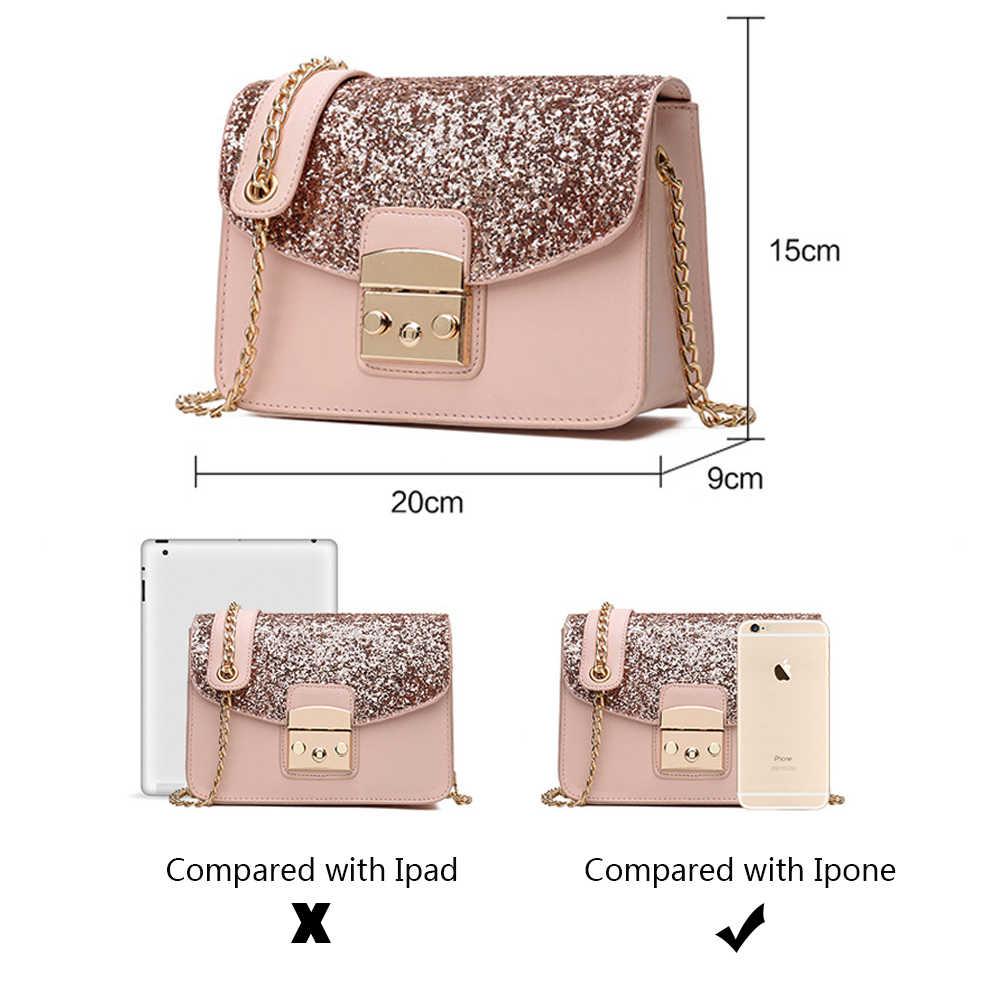 ... Herald модные женские туфли блестками сумка из высококачественной кожи  Для женщин клапаном сумка ремешок-цепочка ... 1db17f1fe84