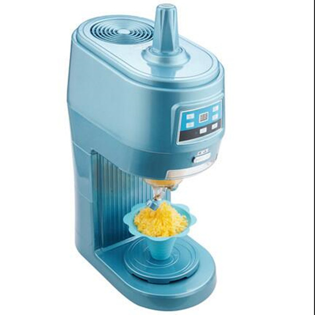 220V Commercial Automatic Electric Fancy Continuous Ice Crusher Ice Cream Maker Machine With Timer High Quality For Shop