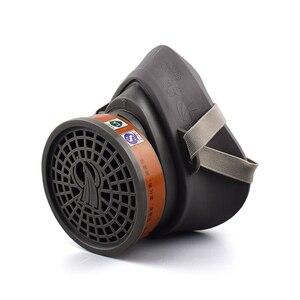 Image 1 - Респиратор для распыления красок, противотуманная маска с фильтрами твердых частиц и активированным углем