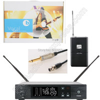 MICWL UHF Wireless Guitar Microphone QLX System with Guitar Cable Stage Performance adjustable 96 Channel