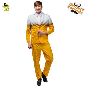 Kostium męski Oktoberfest kostium karnawałowy przebranie kostium dla dorosłych ubrania do odgrywania ról żółta impreza z piwem kostiumy na zestawy Cosplay tanie i dobre opinie CN (pochodzenie) Suit Pants Tie Holiday FF179 Polyester S M L XL adult costume Costumes Accessories Factory directly MOQ is 200 sets