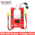 NEW Mini Servo Distribution Board/Section Board (4104#) with LED Screen/Voltage Alarm-Red Color (without Decompression)