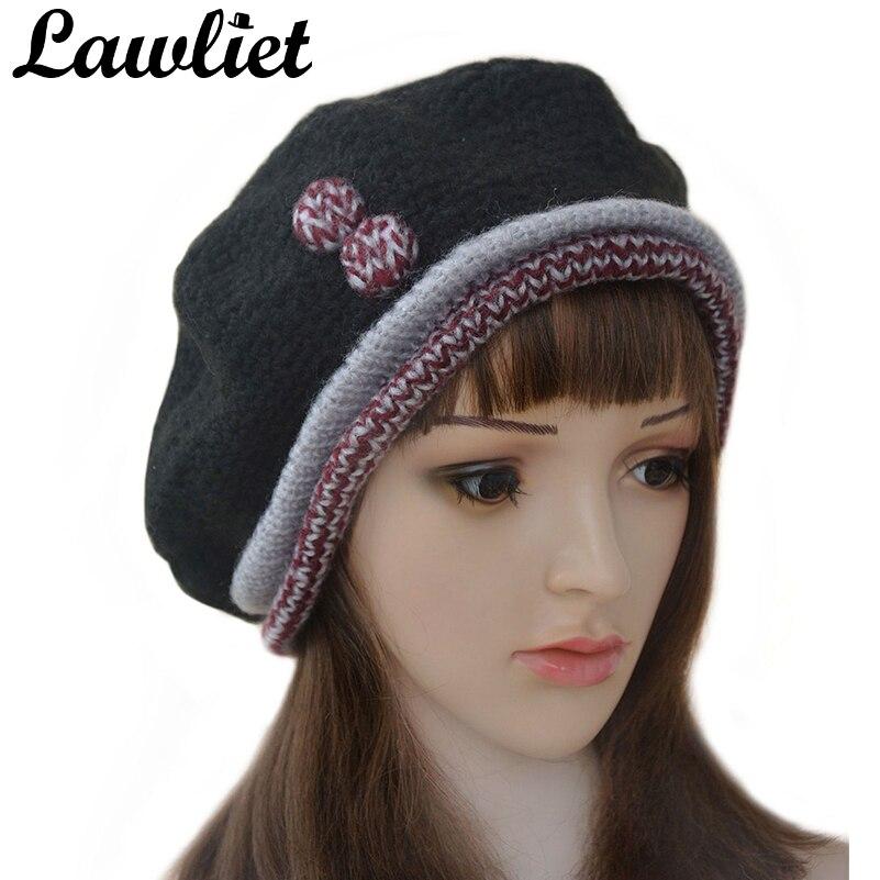 ≧Invierno de lana boina sombreros para las mujeres cálido ganchillo ...