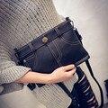 2017 new autumn Korean Xiekua package fashion denim shorts hand envelope shoulder bag