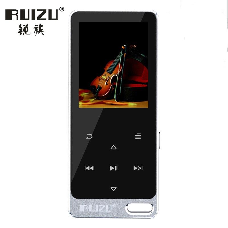 Ruizu X05S ruizu (X19) HiFi Player Sport Mini Lossless Sound MP3 Music Walkman Speaker FM Radio Recorder 8GB Metal Touch Screen world cool s3 music player mp3 студия hifi lossless music mp4 walkman mini radio mp5