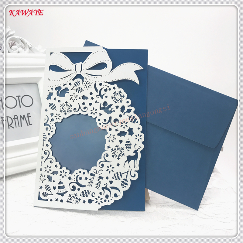 30Pcs/Set Wedding Invitation Card With Envelope Invitation Card Wedding Party Supplies Delicate Carved Invitations Card 5ZH41