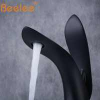 Beelee Bathroom Basin Mixer Faucet Moderne Vessel Sink Taps Single Handle Lavatory Tap Matte Black BL8801B