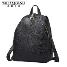 Wiliamganu натуральная кожа женские рюкзаки модные теплые женские сумки ежедневные обновления стиль плеча рюкзак школьница 0752