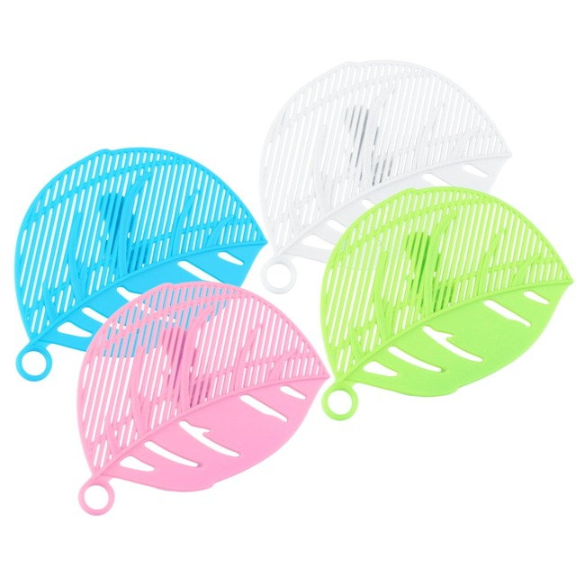 1Pc Durable Clean Leaf Shape Rice Wash Tool Sieve Beans Peas Soybean Mungbean Cleaning Gadget Kitchen Clips Tools
