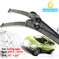 Novo Carro Bracketless Windscreen Windshield Wiper 1 Par de Borracha Macia Wiper Blade Para Nissan Juke 2011-2016