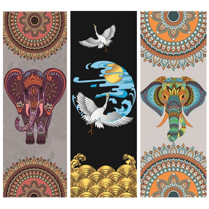 NEW 36 Styles 1.5MM Non-slip Yoga Mat Ultrathin Deerskin Suede Rubber Yoga Mat Lose Weight Exercise Pilates Pad 183*68cm chastep natural pvc yoga mat anti slip sweat absorption 183 61cm 6mm yoga pad fitness gym pilates sports exercise pad yoga mats
