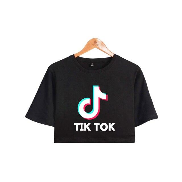 BTS Tik tok software 2019 New Tops Print Summer Short sleeve T-shirt Women Sexy Clothes Hot Sale Casual Harajuku Plus Size