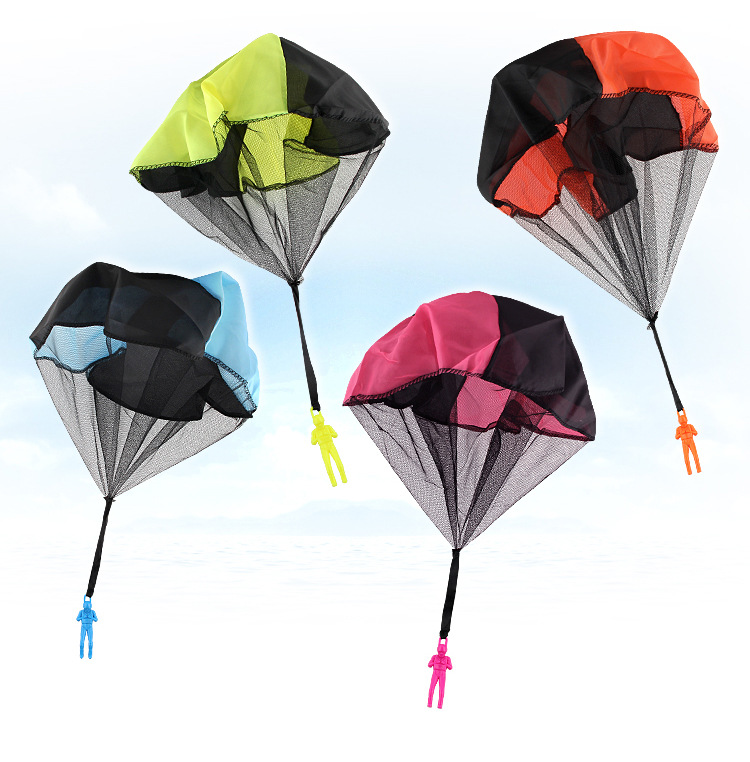 Mini Kids Parachute Hand Throwing Toy Play Outdoor Games Children Educational With Figure Soldier