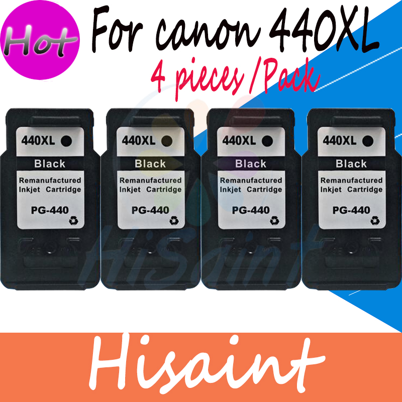 ФОТО Hot Sale 4PK for Canon PG440 440 Black Ink Cartridges Compatibles for Canon MG2240 MG3140 MG4240 MG394 MG474 MG534 Printer