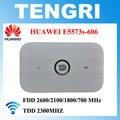 Original desbloqueado huawei 5573 e5573s-606 cat4 150 100mbps 4g lte mobile hotspot wi-fi router fdd 700/1800/2100/2600 mhz tdd 2300 mhz