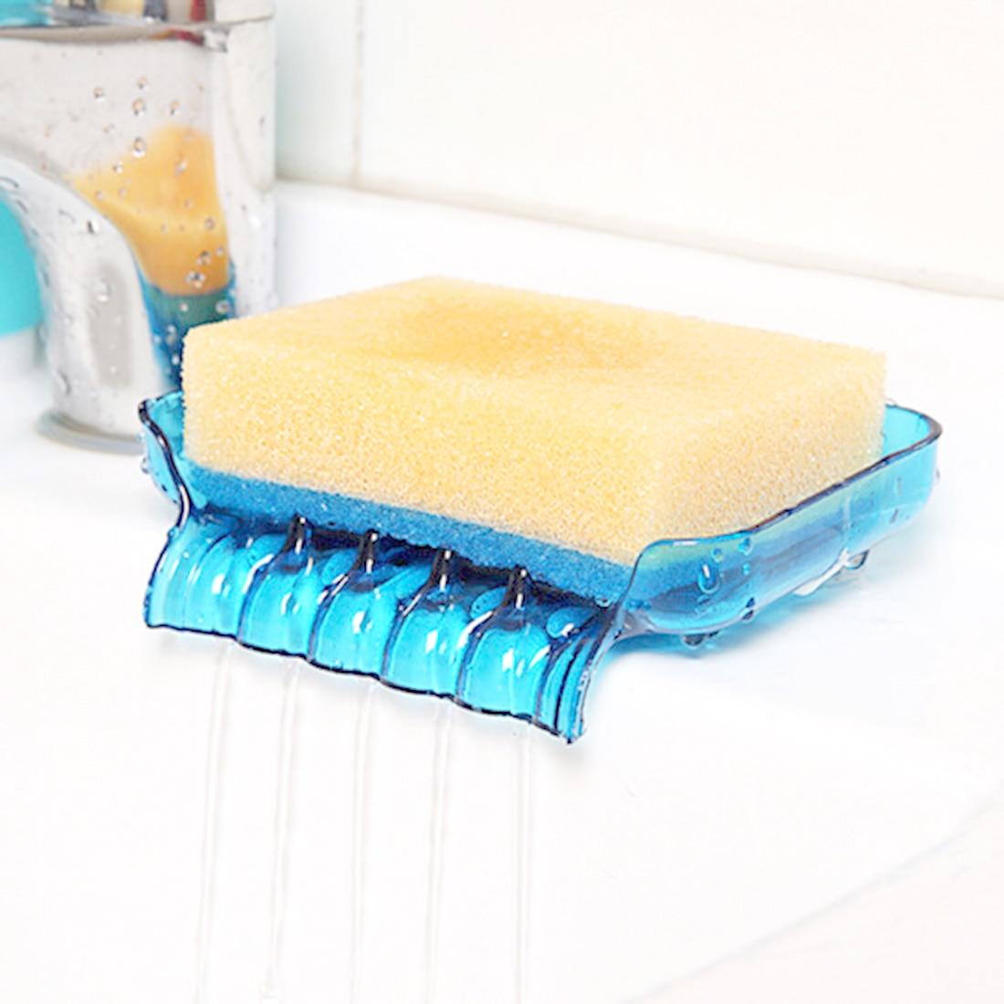 Plastic Soap Dish Bathroom Accessories Drain Soap Box Shower Soap ...