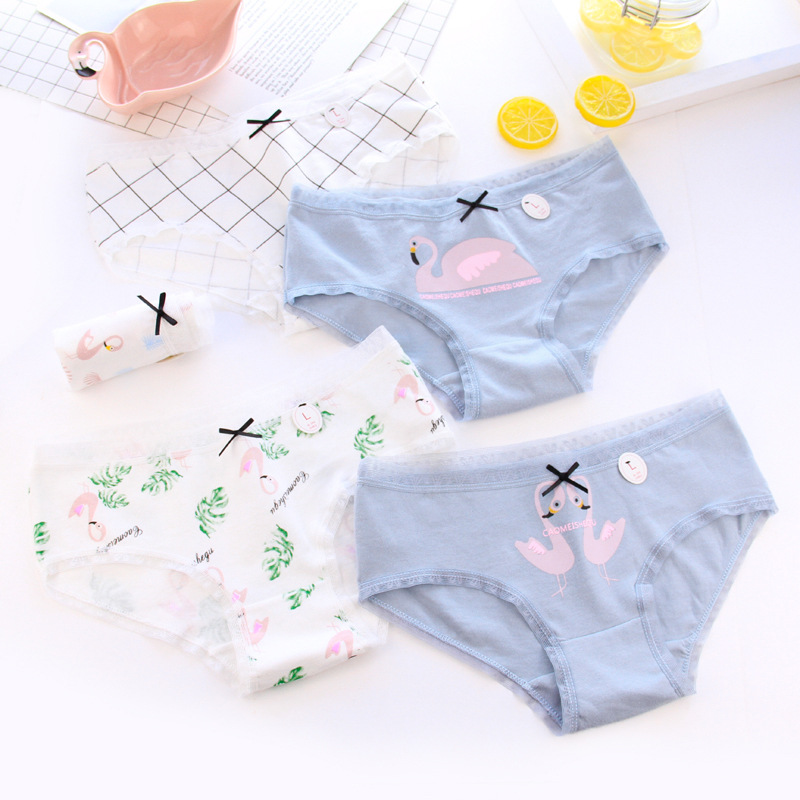 2b47e7e943 Detail Feedback Questions about Susi Rita Flamingo Print Underwear Women  Cotton Briefs 2018 Sexy Low Waist Ladies Panties Lingerie Casual Female  Underwear ...