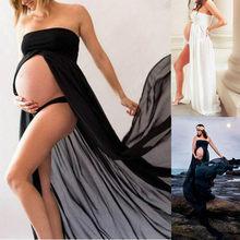 Mulheres Grávidas Vestidos de Maternidade para Fotografia foto tiro Verão Malha Sexy Longo Vestido Gravidez Roupa de Maternidade