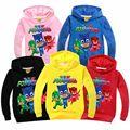New 4Style PJ Cartoon Masks Girls Hoodies Jackets Sweatshirts Boys PJMASKS Hooded Sports Wear Baby Kids T Shirt Children Clothes