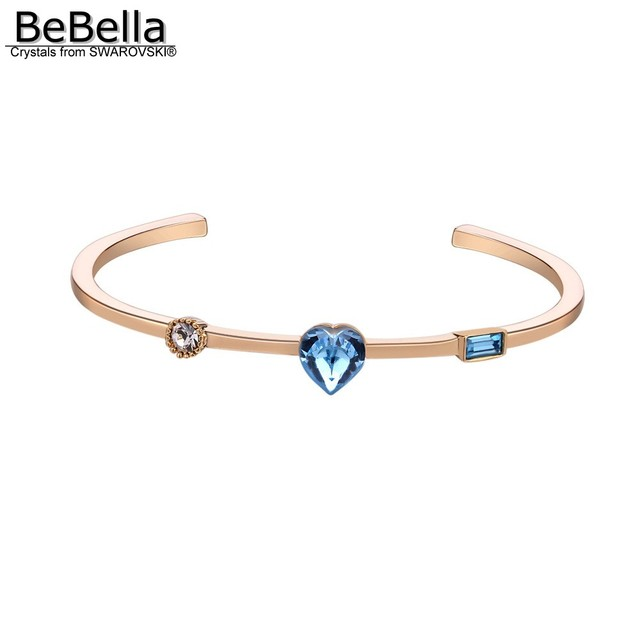 6844f28a88 US $5.36 10% OFF BeBella beloved crystal dust cuff bracelet bangle with  Crystals from Swarovski for women fashion gift bride wedding jewelry  2018-in ...