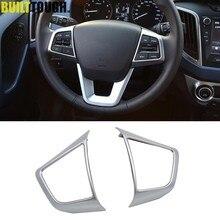 Cubierta del Panel Interior del volante para Hyundai Creta 2015 2016-2019, embellecedor, moldura de marco, adorno, bisel Surround, 2 uds.