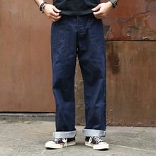 """ברונסון רטרו 1917 ארה""""ב חיל הים מכנסיים מלחמת העולם הראשונה אחיד רשום לבן ג ינס Selvedge ינס"""