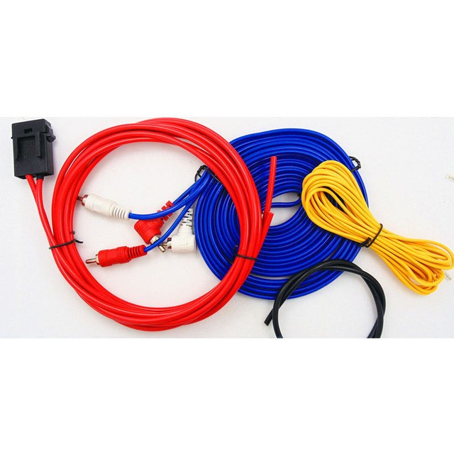 Cheap Stereo audio  Subwoofer Amplifier Wiring Car Audio Fuse Holder Installation  Wire Cable Kit High density