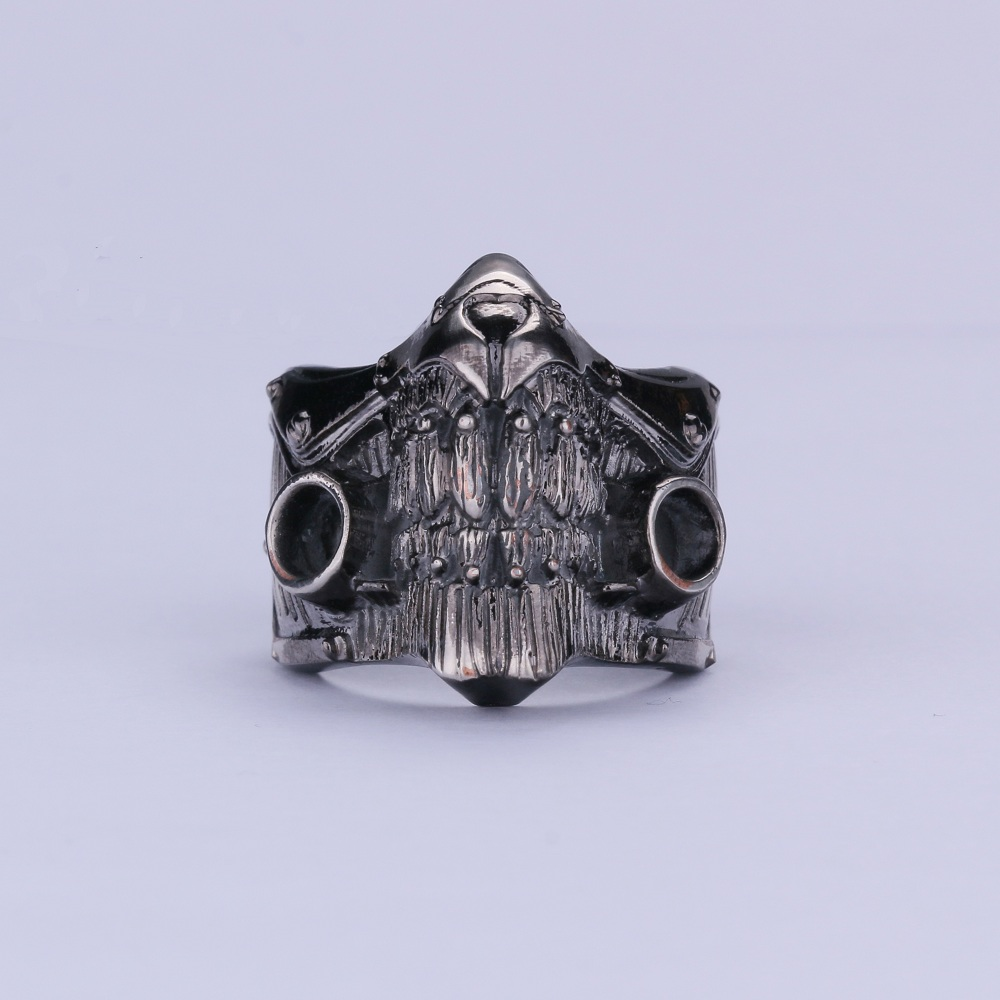 Movies Mad Max Mask Ring Cosplay Rings Zinc Alloy Souvenir Gift Cosplay Accessories Christmas Halloween Party Gift
