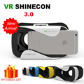 VR Shinecon 3.0 3 III Box Video 3 D Gerceklik Google Cardboard Virtual Reality Goggles 3D Glasses Smartphone Helmet Headset Lens