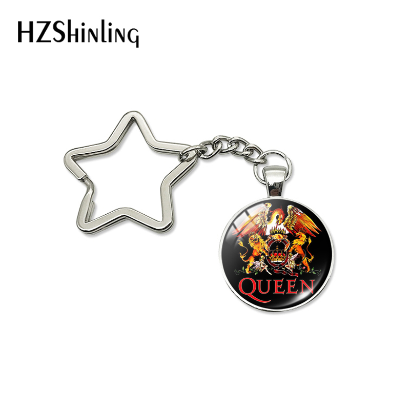 2019 New Arrival Pop Rock Band Queen Star Key Chains Fashion Rock Sigers Band Musicians Bag Car Hold Keyrings Jewelry Gifts