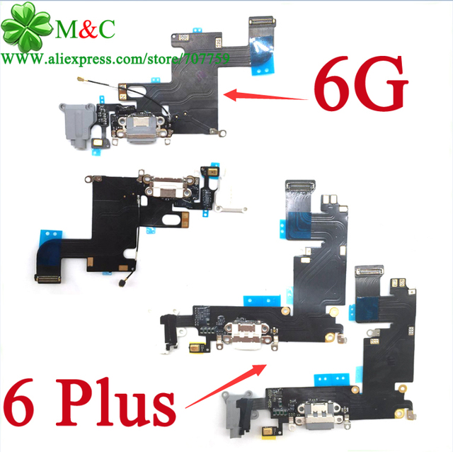 "10 pcs original 6 6 plus carregador de carregamento usb connector porto flex para iphone 6 4.7 ''& 6 plus 5.5"" carregador de Carregamento Cabo Flex"