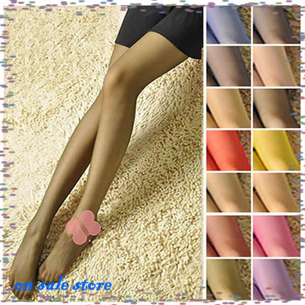 Cukierkowe kolory moda Sexy kobiety cienkie Sheer rajstopy pończochy rajstopy gorąca sprzedaż