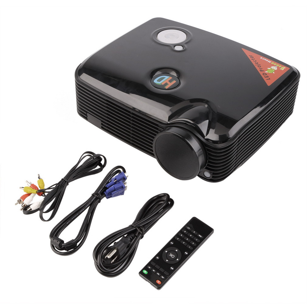 PH5 SVGA (800x600) Support (1280x800) (1024x768) 2D/3D 2500LM HD Home LCD Mini LED Projector with HDMI Input TV Tuner Beamer