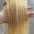 Clip brasileño en la Extensión Del Pelo #613 Bleach Blonde Rizado Rizado Clip En Extensiones de Cabello Humano 7 unids Brasileño Clip Ins JUFA pelo
