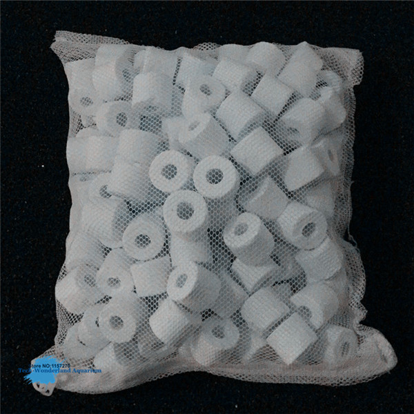 Ceramic Ring For Aquarium Glass Ring Biological Ring Baterial House Fish Tank Filter Media With Net Bag