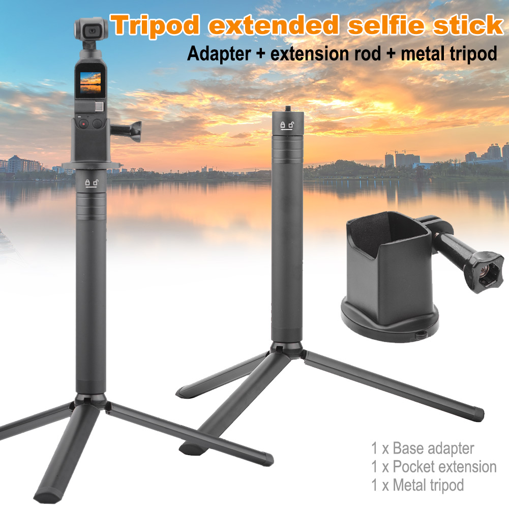 Base Adapter Bracket Tripod Extension Stick Kit for DJI OSMO POCKET Camera Stabilizer XXM8