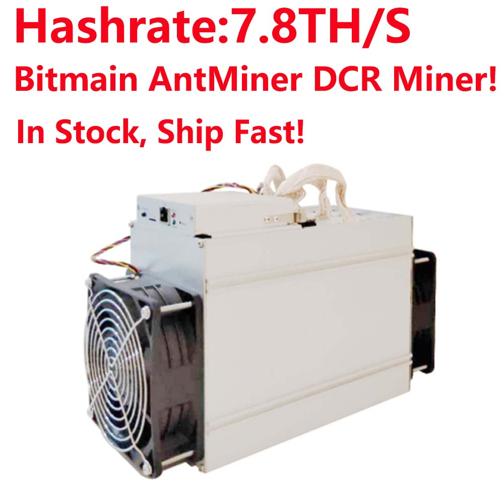 Newest DCR Miner Bitmain AntMiner DR3 Blake(14r) ASIC Miner 7.8TH/S better than Innosilicon D9 and FFminer In stock, ship fast! new style decred miner innosilicon d9 siamaster pow algorithm 2 4th s 900w for decred