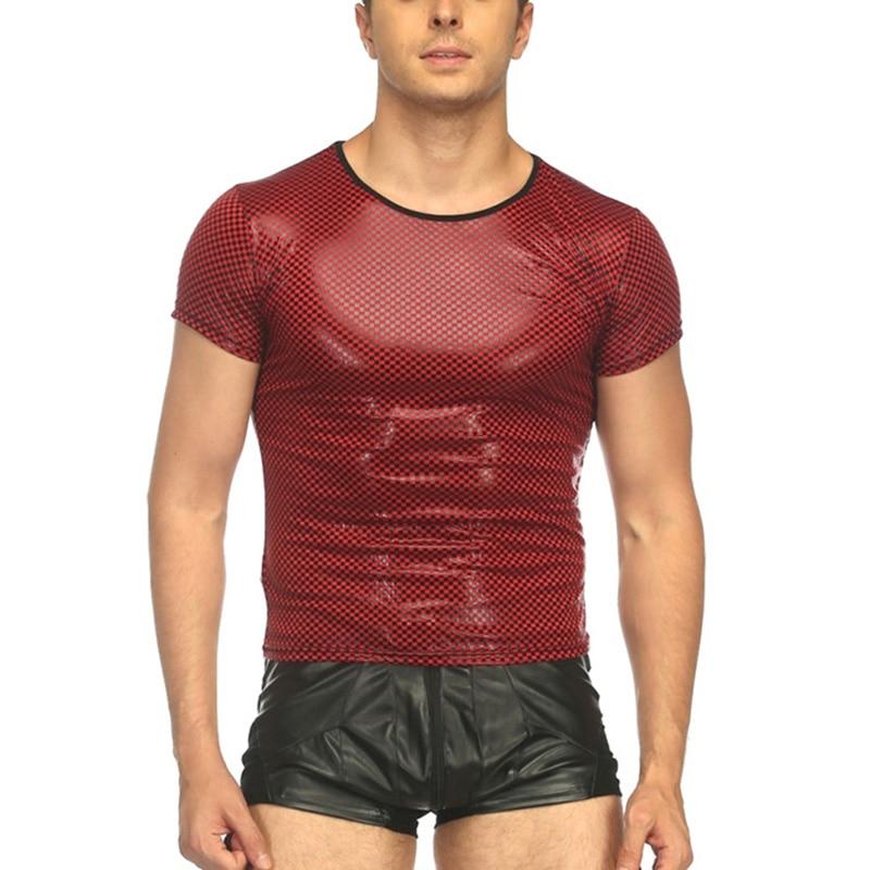 Mens Sexy Printed Plaid T Shirt Tshirts Streetwear Men Tees Tight Shirts Compression Shirt Funny Undershirts Gay Fitness Tops