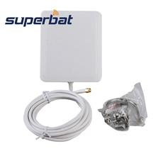 Superbat 10dbi 2300-2700 МГц усилитель сигнала 4G LTE Антенна 140*120*25 мм Антенна Панель Крепление RP-SMA разъем 3M кабель для huawei 4G
