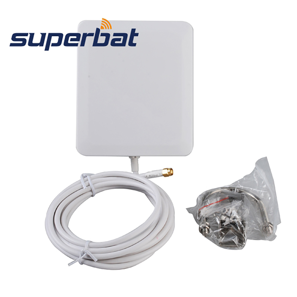 Superbat 10dbi 2300-2700Mhz Signal Booster 4G LTE Antenna 140 * 120 * - معدات الاتصالات