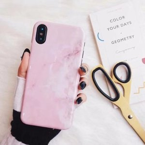 Image 3 - 30PCS Luxury Marble Granite Stone Cover For iPhone XS Plus Cute Soft TPU Case For iPhone XS MAX Case Silicon Case Capa