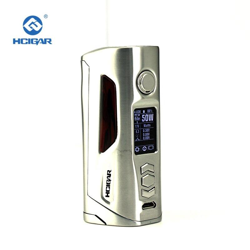 D'origine Hcigar VT75D Double 18650 Batterie Boîte Mods avec 75 w Sortie Cigarette Électronique Mod Adopte Evolv ADN 75C Puce glisser mod