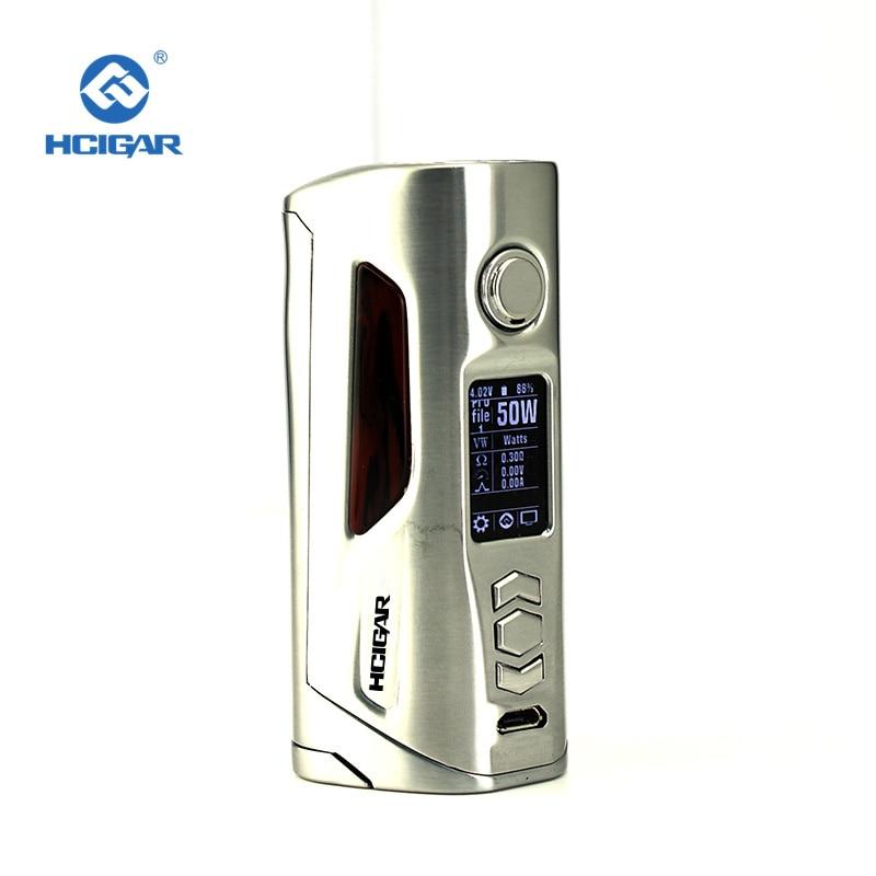 Original Hcigar VT75D Dual 18650 caja de batería Mods con 75 w Salida cigarrillo electrónico Mod adopta Evolv ADN 75C Chip arrastrar mod