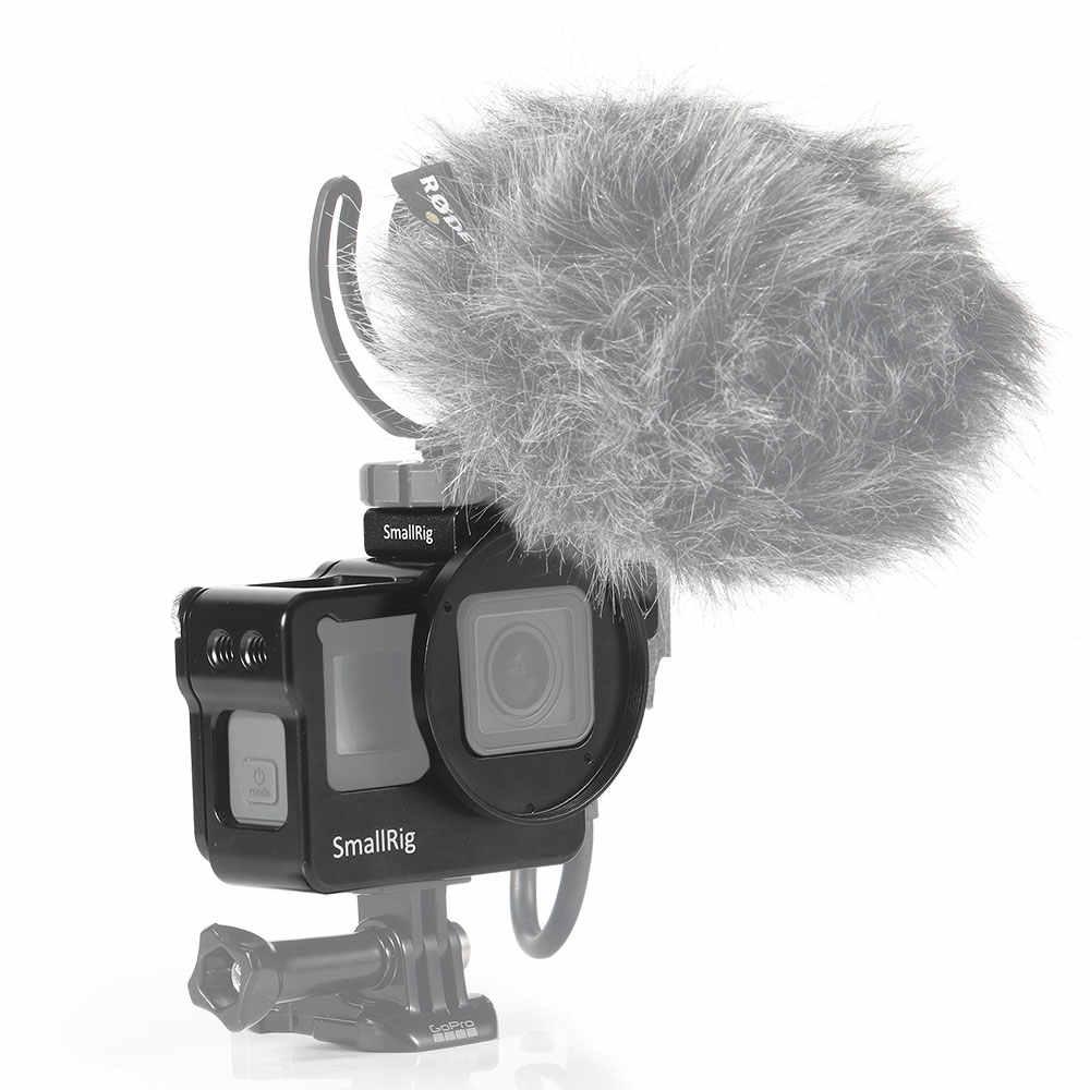 SmallRig экшн Камера Vlogging клетка для экшн-камеры GoPro HERO 7/6/5 Black Label для Микрофон светодиодная вспышка света DIY варианты Алюминий чехол CVG2320