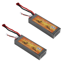 2 X 7.4V 2S 30C 6200mAh Lipo RC Battery Deans T Connector for RC Car Truck Hobby
