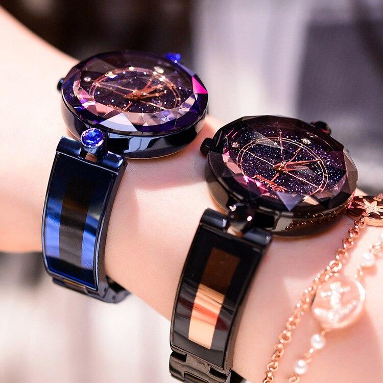Dimini Fashion Luxury Ladies Crystal Watch Waterproof Rose Gold Steel Quartz Women Watches Top Brand Clock