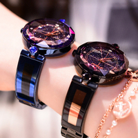 Dimini Fashion Luxury Ladies Crystal Watch Waterproof Rose Gold Steel Quartz Women Watches Top Brand Clock Relogio Feminino Saat Women's Wristwatches